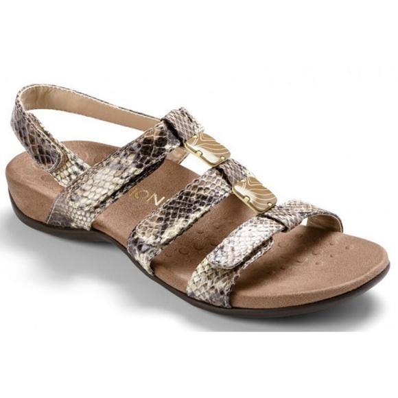 3b93342f04c3d Vionic Amber Natural Snake Orthaheel Ortha Sandals.  M_5aa71aa42c705d3febf591be
